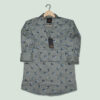MEN PRINTED GREY SHIRT