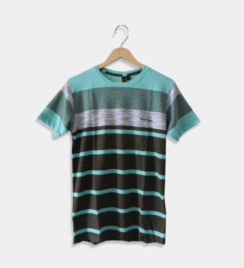 Man's round neck black and Sea T-Shirt