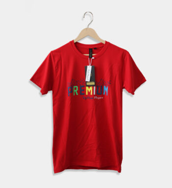 Man's round neck red T-Shirt
