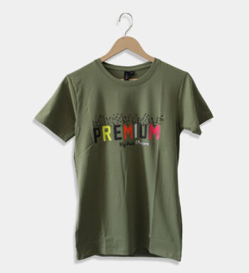 Man Olive Green round neck T-shirt