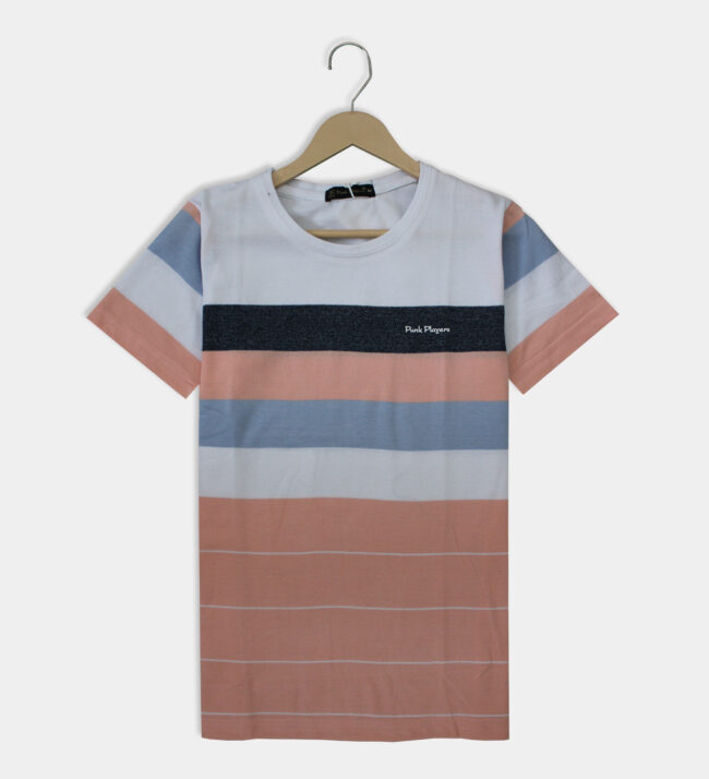 white with light pink t-shirt